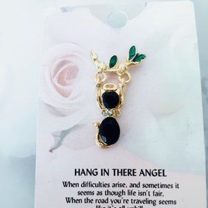 Hang in There Angel Pin Brooch Gift